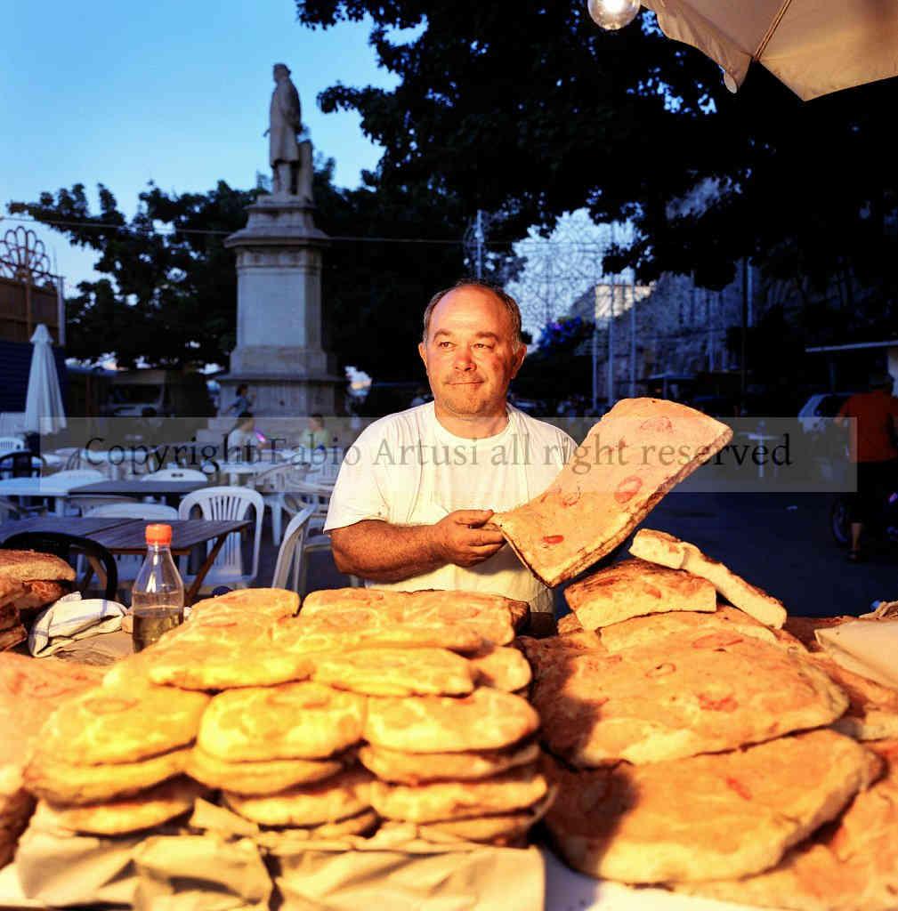 Street vendors at Festino of S.Rosalia, Palermo